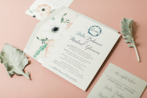 Custom Floral Wedding Suite for Helia & Mike