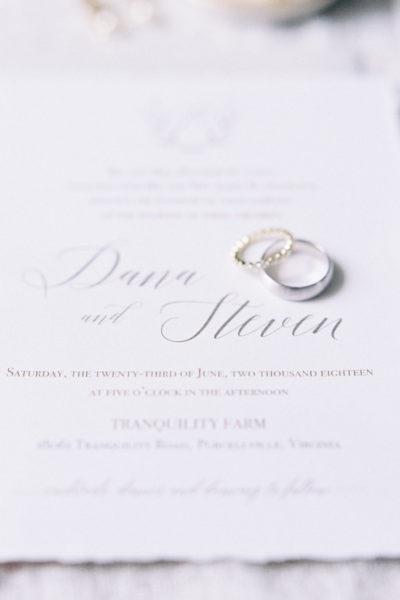 Custom Rustic Wedding Suite for Dana & Steven