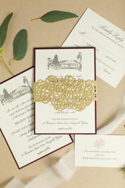Custom Invitations Featuring Historic Rosemont