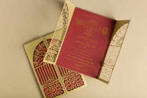 Ornate Invitation Design for a Harry Potter Themed Wedding