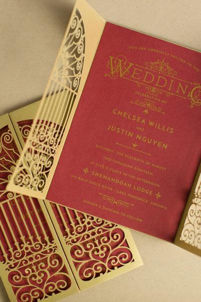 Ornate Invitation Design for a Harry Potter Themed Wedding