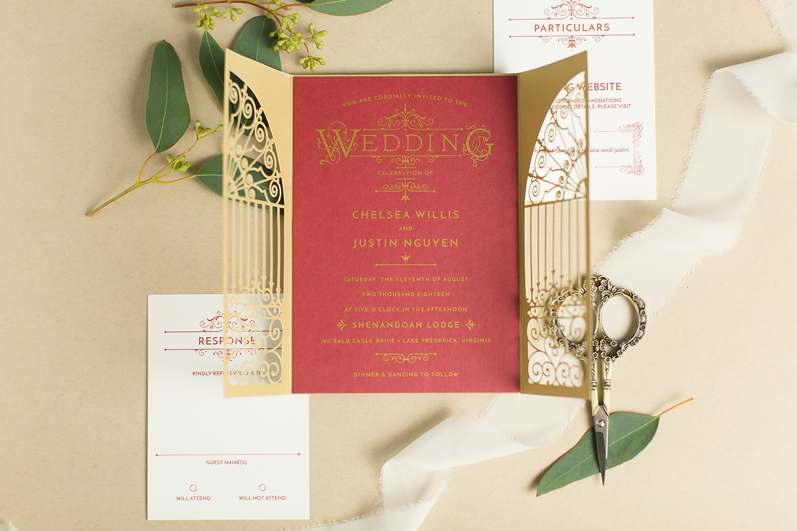 Ornate Invitation Design For A Harry Potter Themed Wedding Staccato