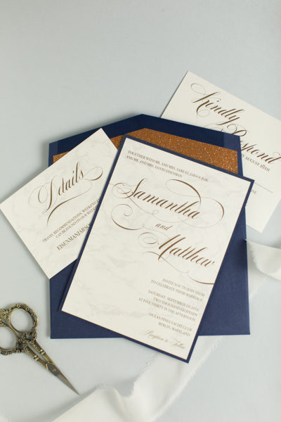 Samantha & Matthew's Glittering Beach Club Invitations