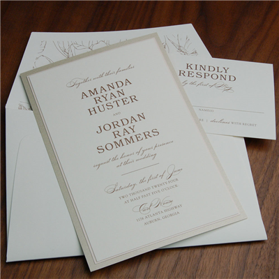 Antebellum layered wedding invitation by Checkerboard is a modern twist on classic design.
