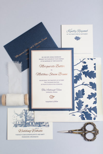 Marguerite & Matt's Custom Layered Wedding Invitations