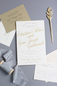 Christine & Gino's Modern Wedding Invitation Suite