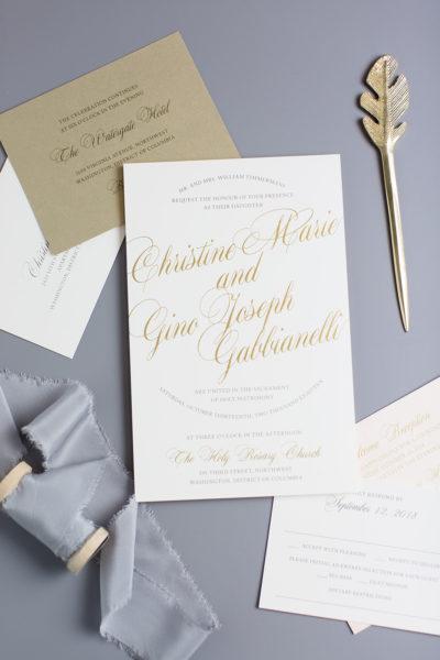 Christine & Gino's Modern Wedding Invitation Suite