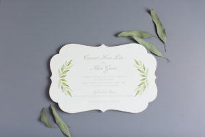 Connor & Min's Die-Cut Wedding Invitation