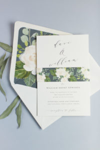 Davi & William's Floral Wedding Invitation Suite