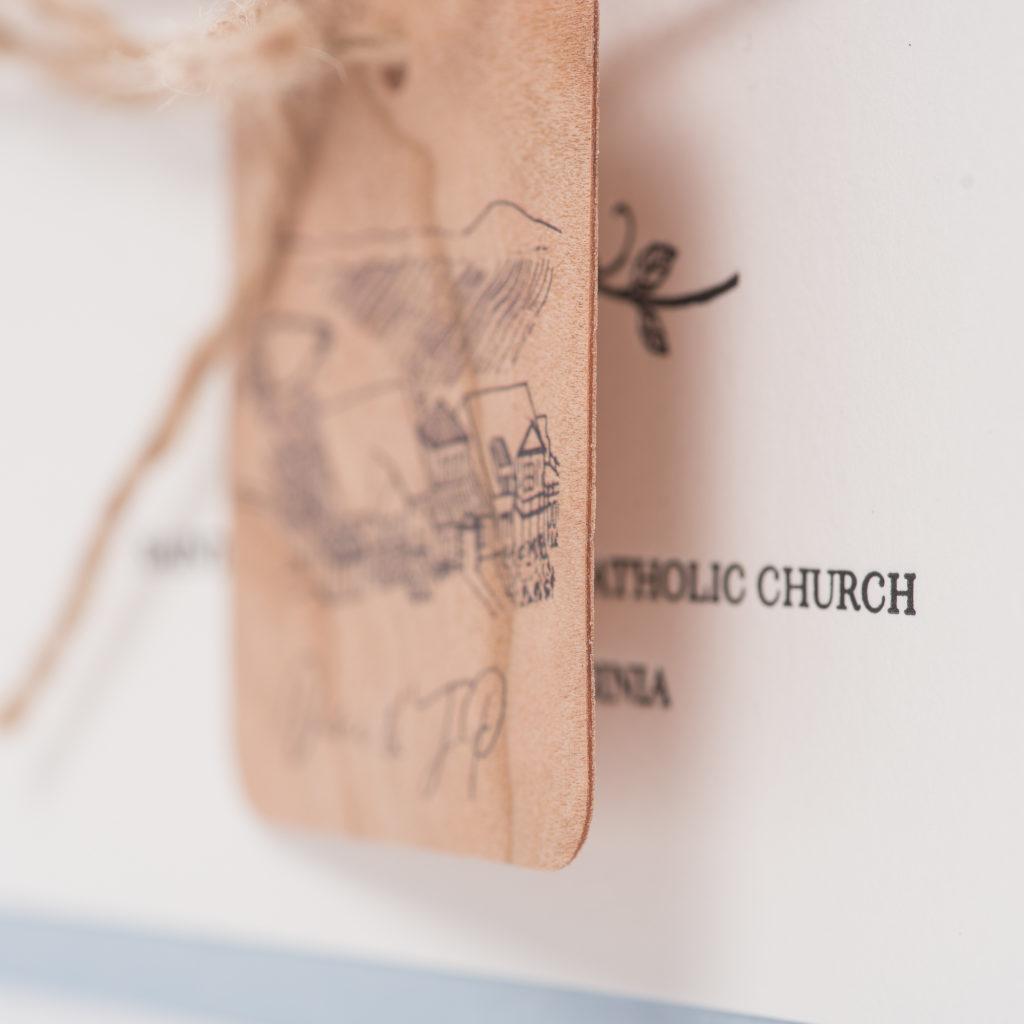 Danielle JPs Custom Letterpress Wedding Invitations O Staccato