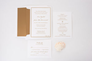 Trina & Justin's Custom Beach Wedding Invitations