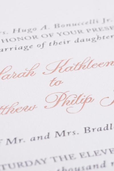 Sarah & Matthew's Custom Letterpress & Foil Wedding Invitations