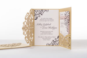 Ashley & Evan's Custom Lasercut Wedding Invitations