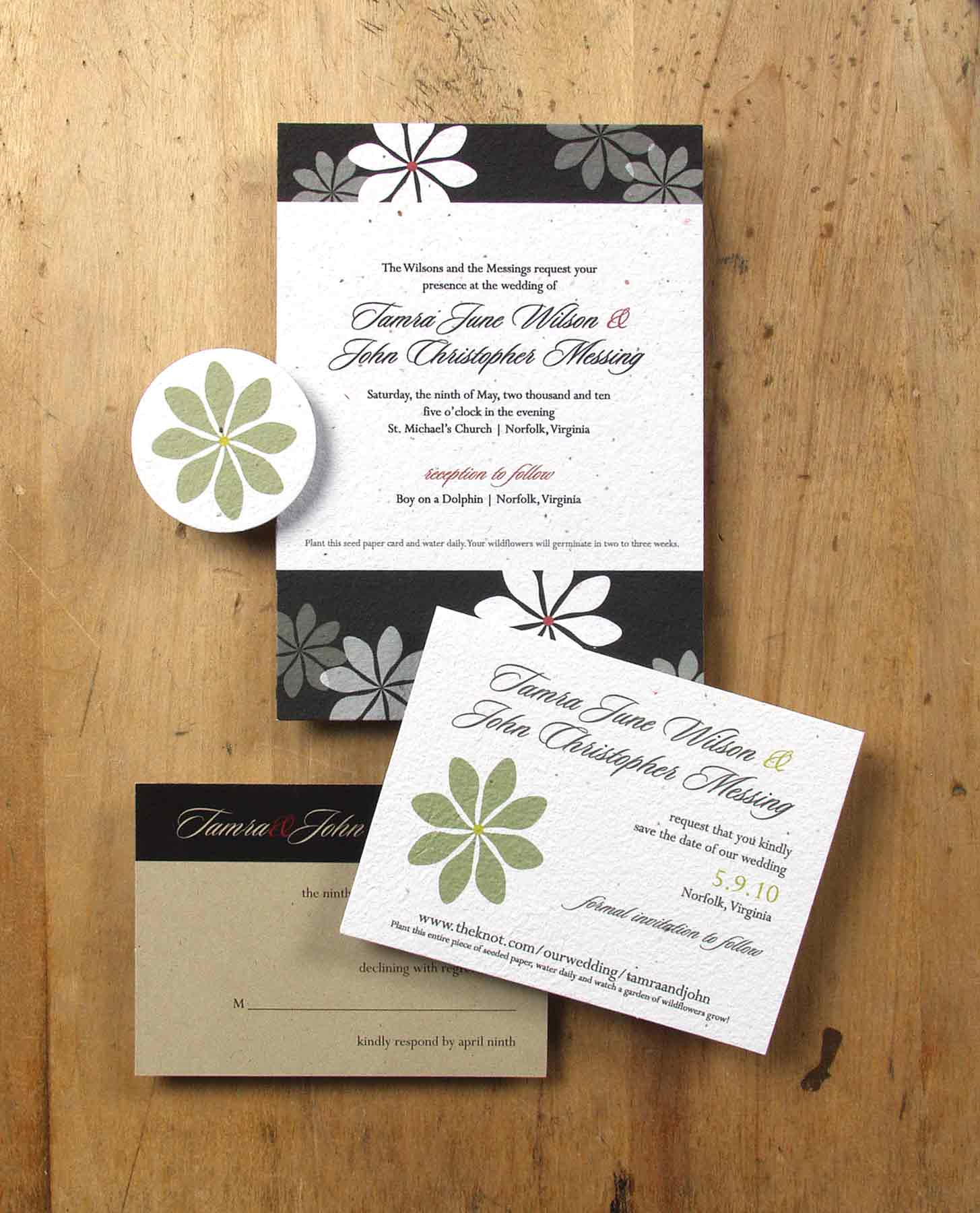 Plantable Invitations by Bloomin\' • Staccato